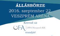 Találkozzon az OFA Nonprofit Kft. csapatával a szeptember 22-i állásbörzén!