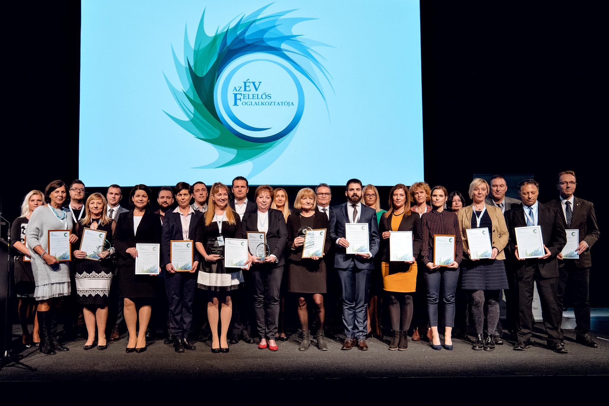 Az Év Felelős Foglalkoztatója 2018 nyertesei